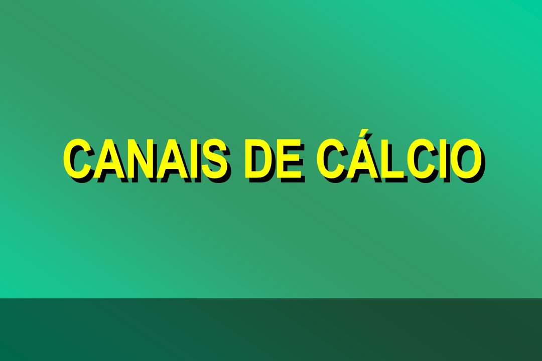 CANAIS DE CÁLCIO