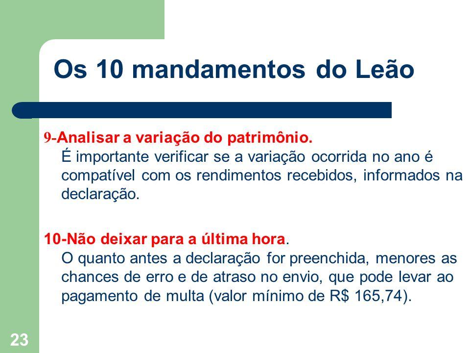 22 Os 10 mandamentos do Leão 7- Pedir ajuda especializada.