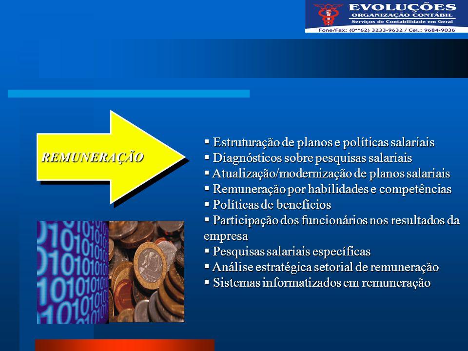 Estruturação de planos e políticas salariais Estruturação de planos e políticas salariais Diagnósticos sobre pesquisas salariais Diagnósticos sobre pe