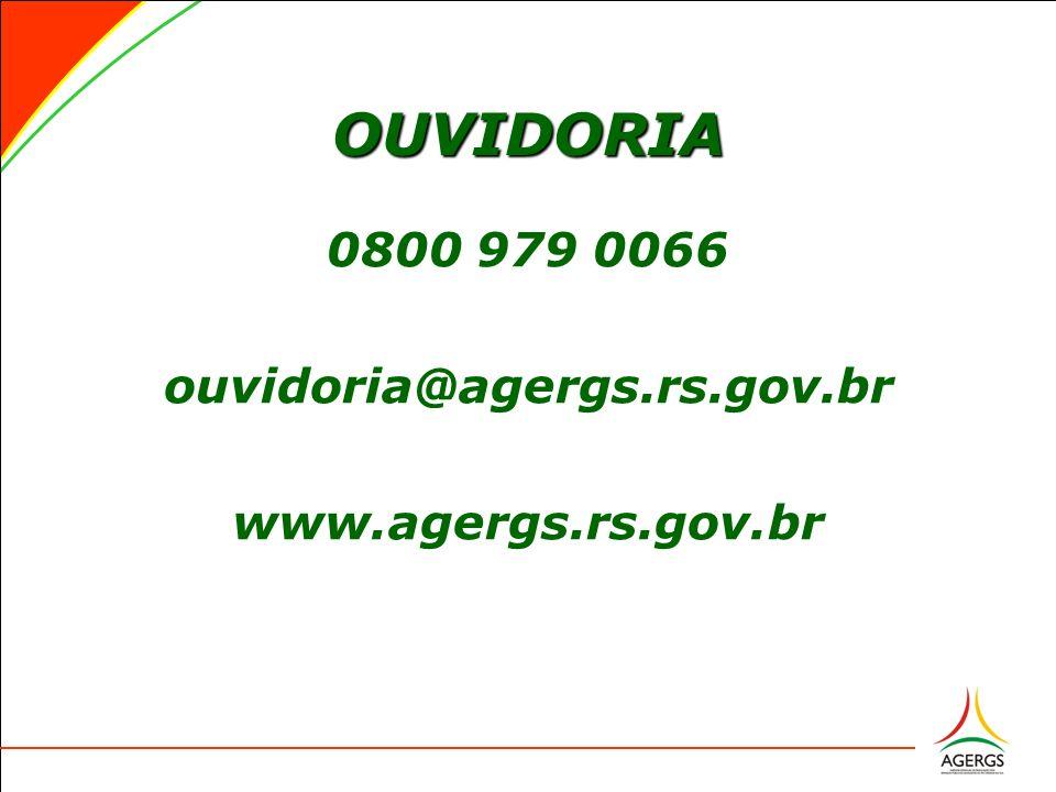 OUVIDORIA 0800 979 0066 ouvidoria@agergs.rs.gov.br www.agergs.rs.gov.br