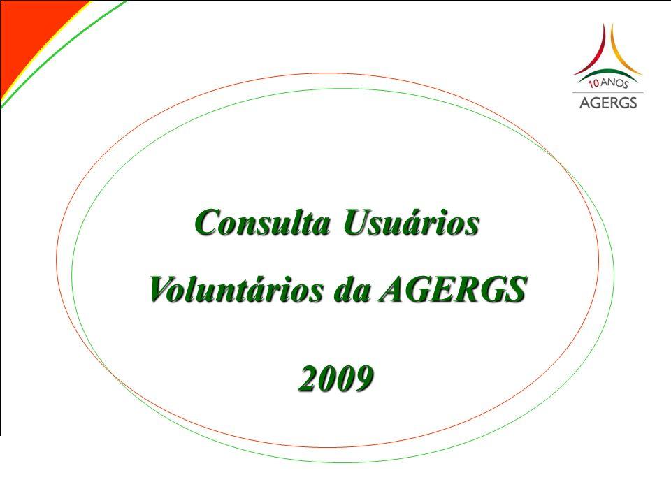 Consulta Usuários Voluntários da AGERGS 2009