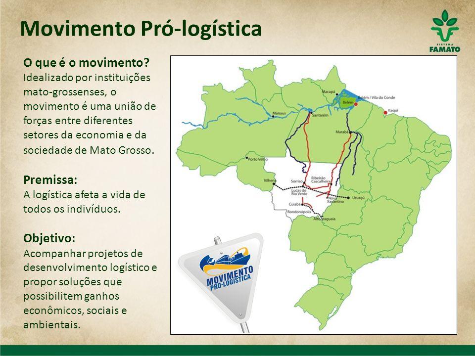Movimento Pró-logística O que é o movimento? Idealizado por instituições mato-grossenses, o movimento é uma união de forças entre diferentes setores d