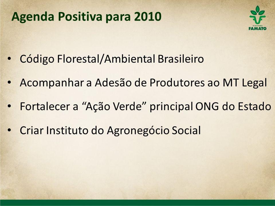 Código Florestal/Ambiental Brasileiro Acompanhar a Adesão de Produtores ao MT Legal Fortalecer a Ação Verde principal ONG do Estado Criar Instituto do