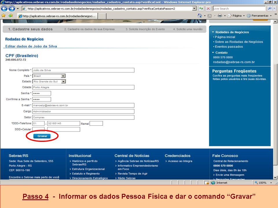 Passo 5 - Selecionar a opção CNPJ brasileiro, colocar o nº e selecionar Verificar Documento