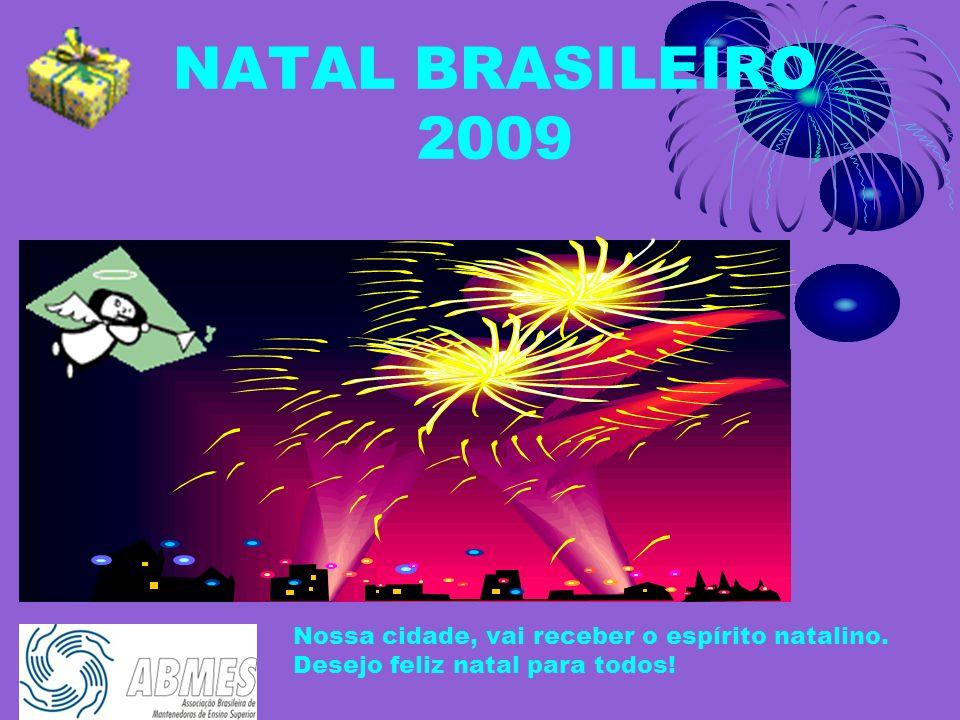 NATAL BRASILEIRO 2009 Atenção! Ouça o som dos fogos de artifício. A apresentação das imagens vai começar! A imagem a seguir, é uma cidade soltando vár