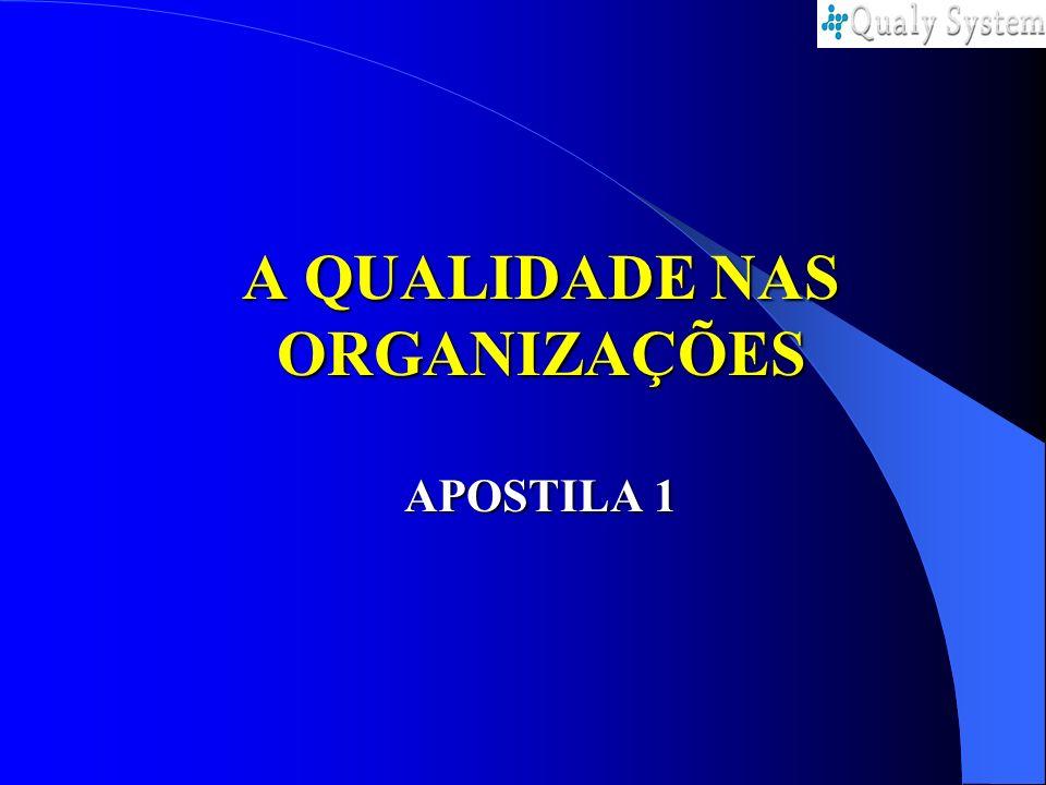 A QUALIDADE NAS ORGANIZAÇÕES APOSTILA 1