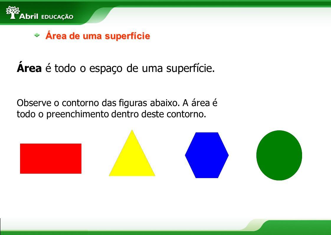 Área de uma superfície O centímetro quadrado é uma unidade de área.