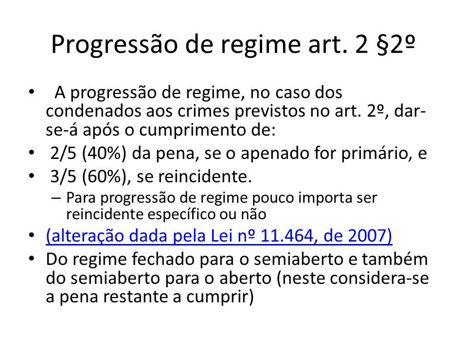 Progressão de regime art.
