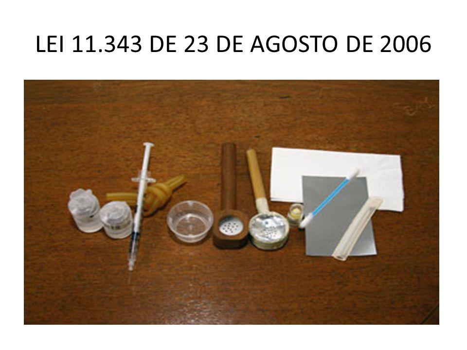 HISTÓRICO 1 – LEI 6368/76 – regulava a política de prevenção e repressão dos crimes relacionados com drogas 2 – lei 10409/2002 – FHC vetou o capítulo dos crimes, permanecendo somente o procedimento.