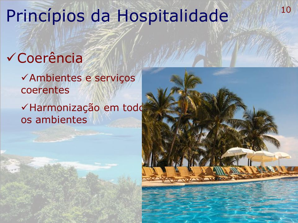 11 Carta de Hospitalidade Meios de Hospedagem Manter a limpeza e a higiene em todos os ambientes do hotel;