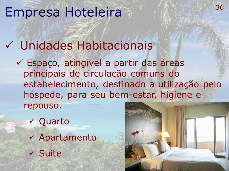 37 Empresa Hoteleira Diária Preço de hospedagem correspondente à: Utilização da UH e dos serviços incluídos Observados os horários fixados para Entrada (check-in) Saída (check-out).