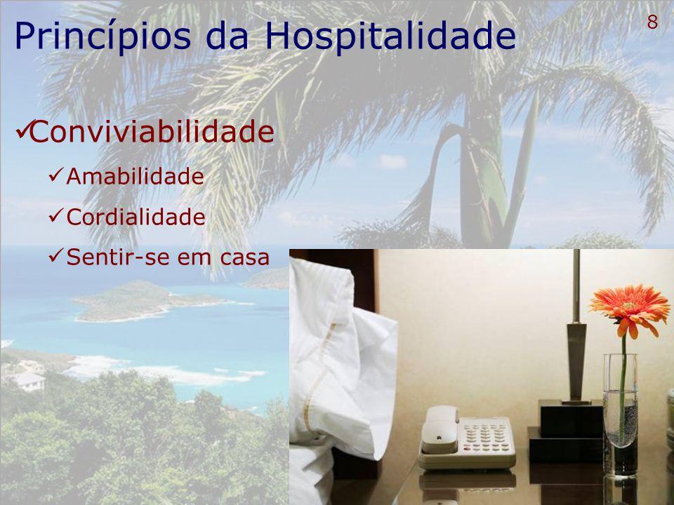 9 Princípios da Hospitalidade Cuidado ininterrupto Atenção