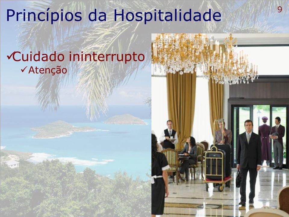 10 Princípios da Hospitalidade Coerência Ambientes e serviços coerentes Harmonização em todos os ambientes
