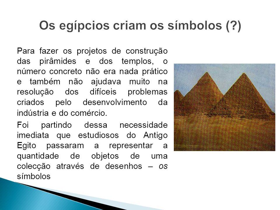 Para fazer os projetos de construção das pirâmides e dos templos, o número concreto não era nada prático e também não ajudava muito na resolução dos d