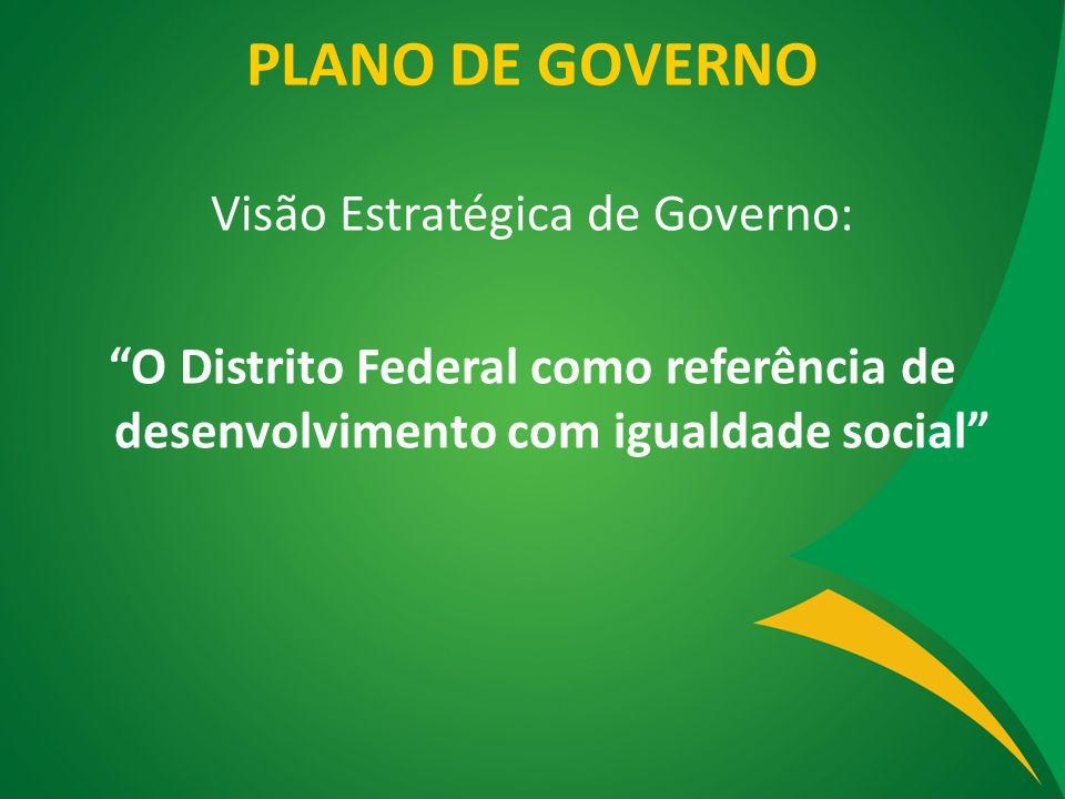 PLANO DE GOVERNO Visão Estratégica de Governo: O Distrito Federal como referência de desenvolvimento com igualdade social
