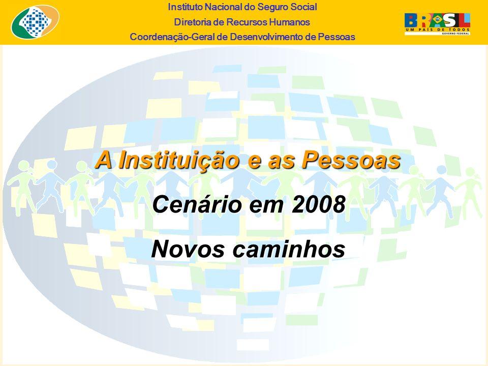 Instituto Nacional do Seguro Social Diretoria de Recursos Humanos Coordena ç ão-Geral de Desenvolvimento de Pessoas A Instituição e as Pessoas Cenário