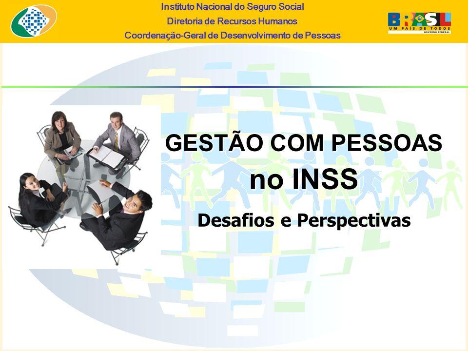 Instituto Nacional do Seguro Social Diretoria de Recursos Humanos Coordena ç ão-Geral de Desenvolvimento de Pessoas GESTÃO COM PESSOAS no INSS Desafio