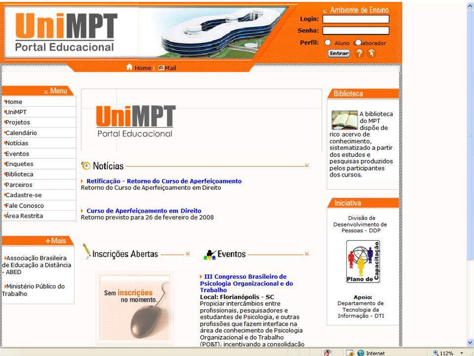 Portal Educacional do MPT.