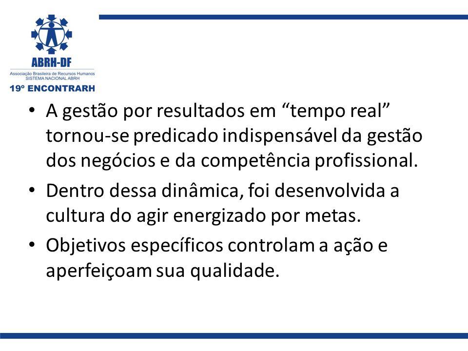 A gestão por resultados em tempo real tornou-se predicado indispensável da gestão dos negócios e da competência profissional.