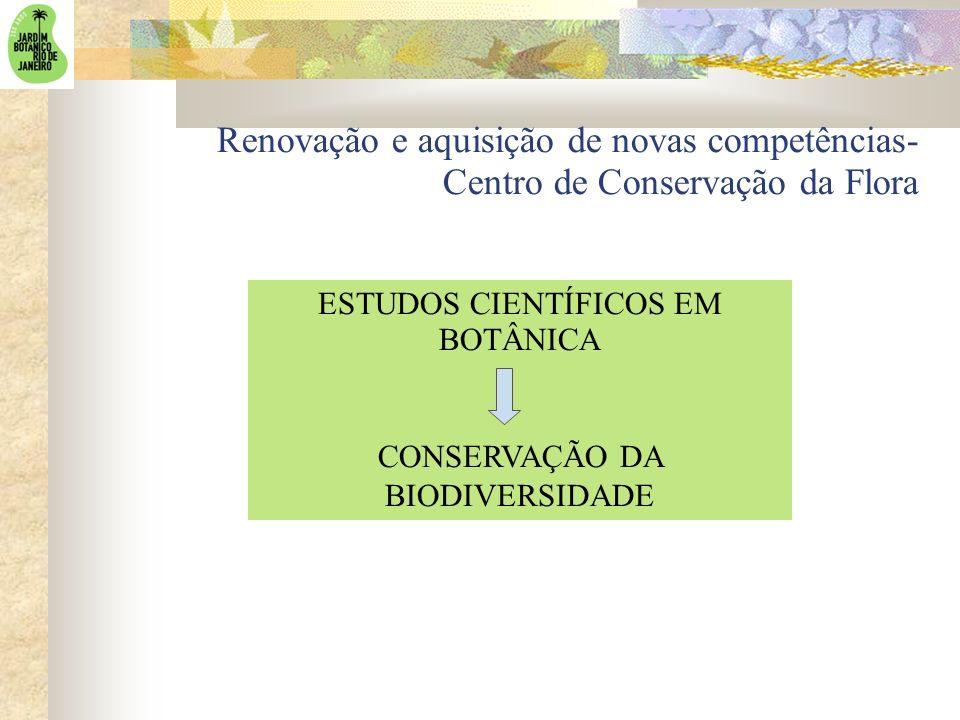 Renovação e aquisição de novas competências- Centro de Conservação da Flora ESTUDOS CIENTÍFICOS EM BOTÂNICA CONSERVAÇÃO DA BIODIVERSIDADE