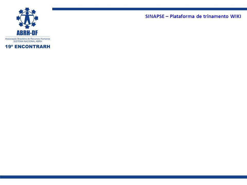 SINAPSE – Plataforma de trinamento WIKI