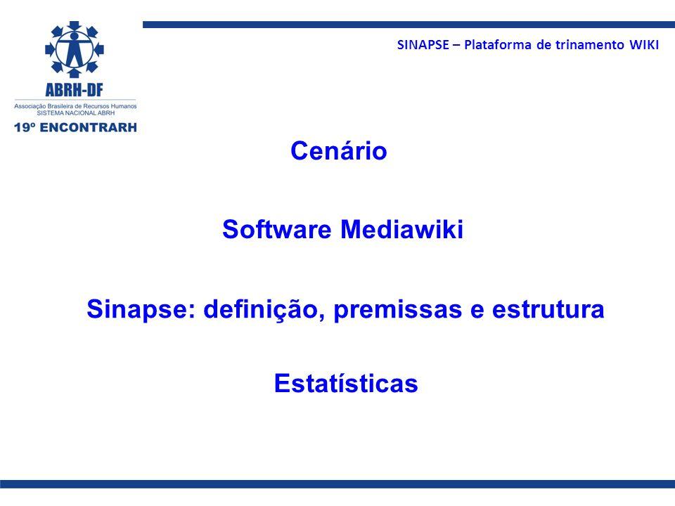 Cenário Software Mediawiki Sinapse: definição, premissas e estrutura Estatísticas