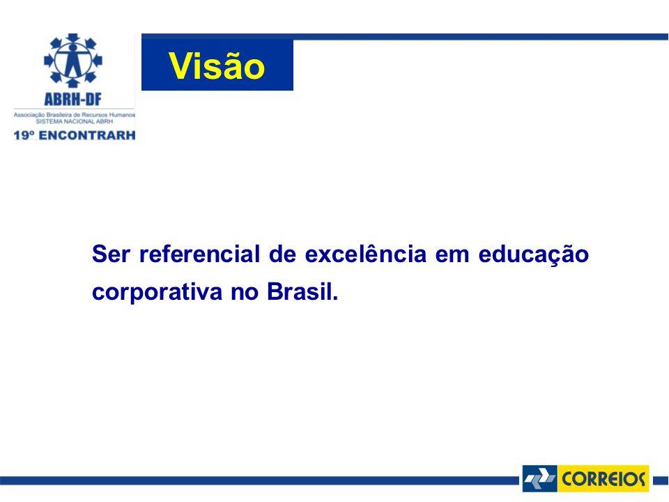 Ser referencial de excelência em educação corporativa no Brasil. Visão