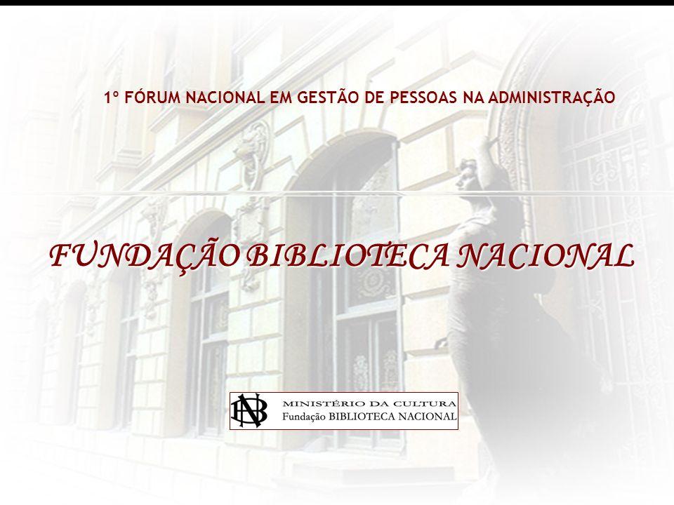 FUNDAÇÃO BIBLIOTECA NACIONAL 1º FÓRUM NACIONAL EM GESTÃO DE PESSOAS NA ADMINISTRAÇÃO