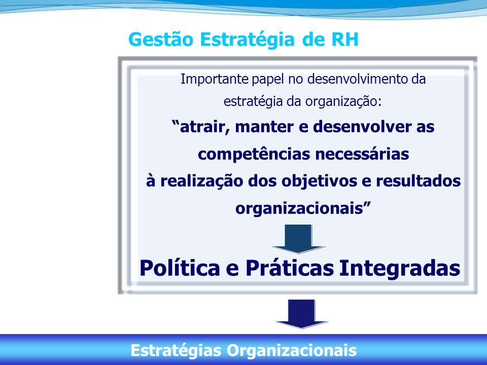 7 Gestão Estratégia de RH Importante papel no desenvolvimento da estratégia da organização: atrair, manter e desenvolver as competências necessárias à