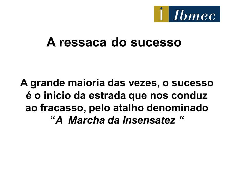 A grande maioria das vezes, o sucesso é o inicio da estrada que nos conduz ao fracasso, pelo atalho denominadoA Marcha da Insensatez A ressaca do suce