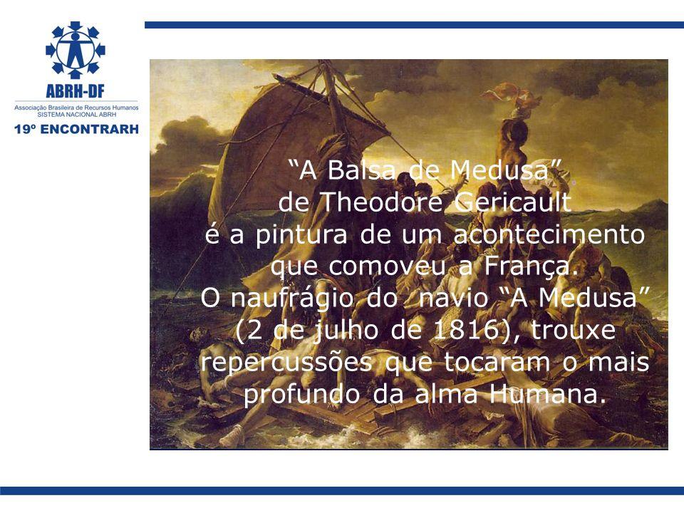 A Balsa de Medusa de Theodore Gericault é a pintura de um acontecimento que comoveu a França. O naufrágio do navio A Medusa (2 de julho de 1816), trou