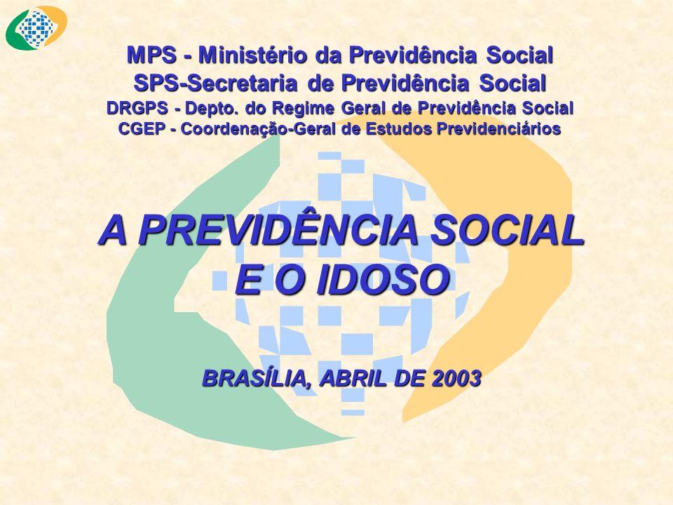 O IDOSO NA POPULAÇÃO BRASILEIRA