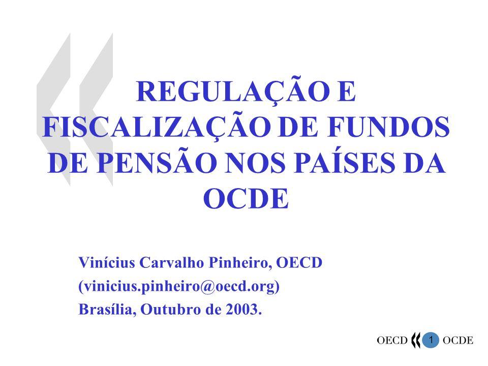 1 REGULAÇÃO E FISCALIZAÇÃO DE FUNDOS DE PENSÃO NOS PAÍSES DA OCDE Vinícius Carvalho Pinheiro, OECD (vinicius.pinheiro@oecd.org) Brasília, Outubro de 2