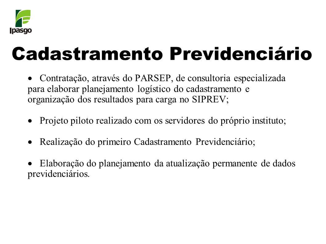 Cadastramento Previdenciário Contratação, através do PARSEP, de consultoria especializada para elaborar planejamento logístico do cadastramento e orga