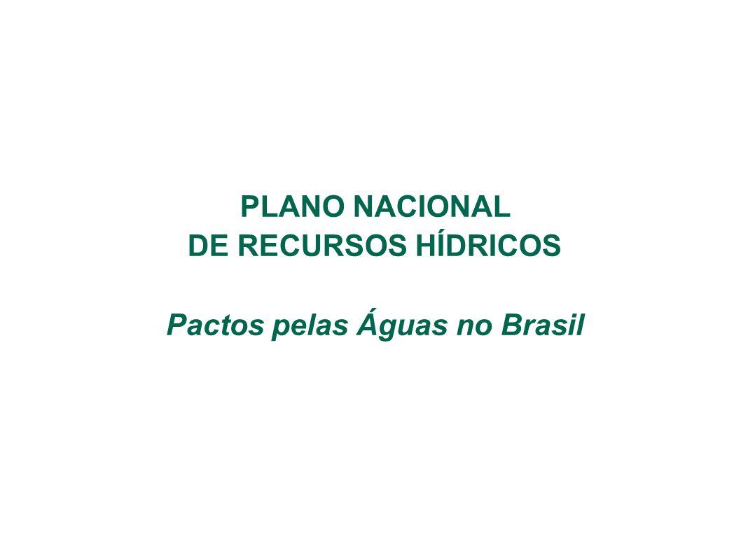 PLANO NACIONAL DE RECURSOS HÍDRICOS Pactos pelas Águas no Brasil
