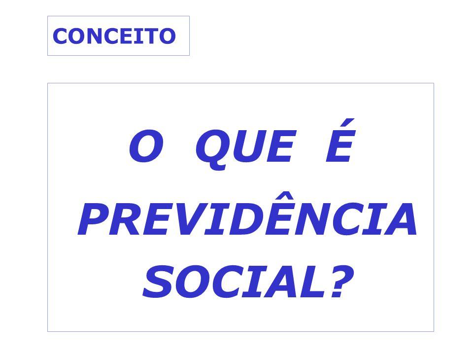 CONCEITO O QUE É PREVIDÊNCIA SOCIAL?