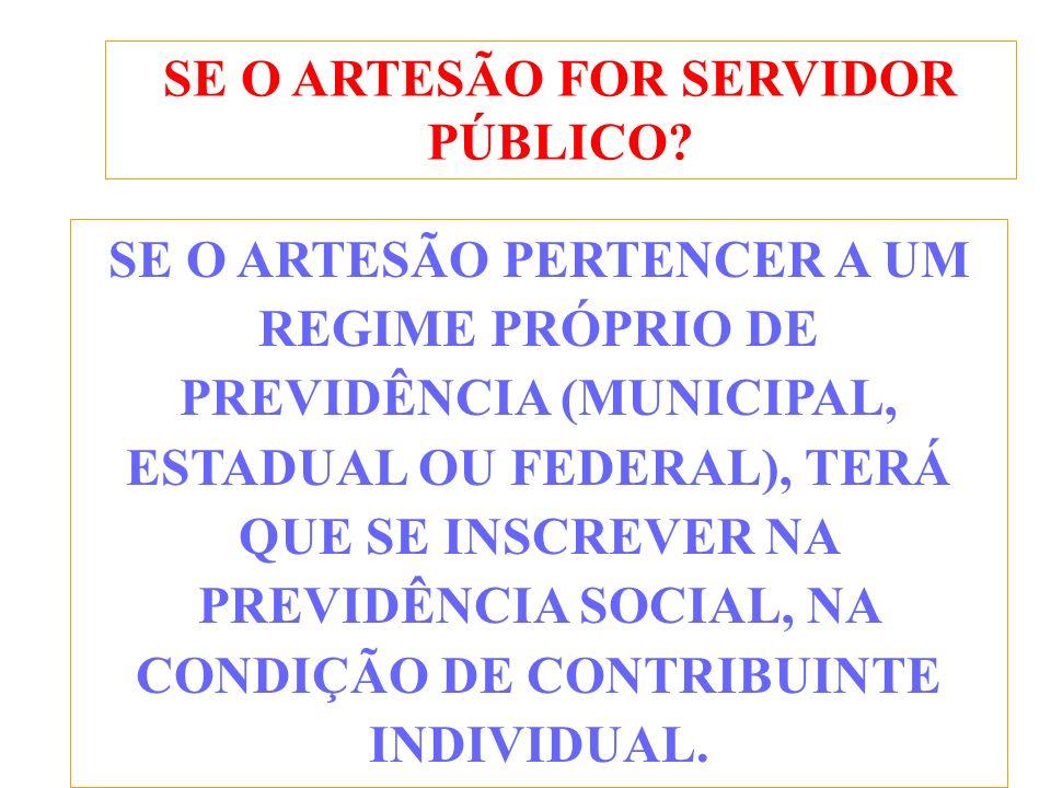 SE O ARTESÃO FOR SERVIDOR PÚBLICO.