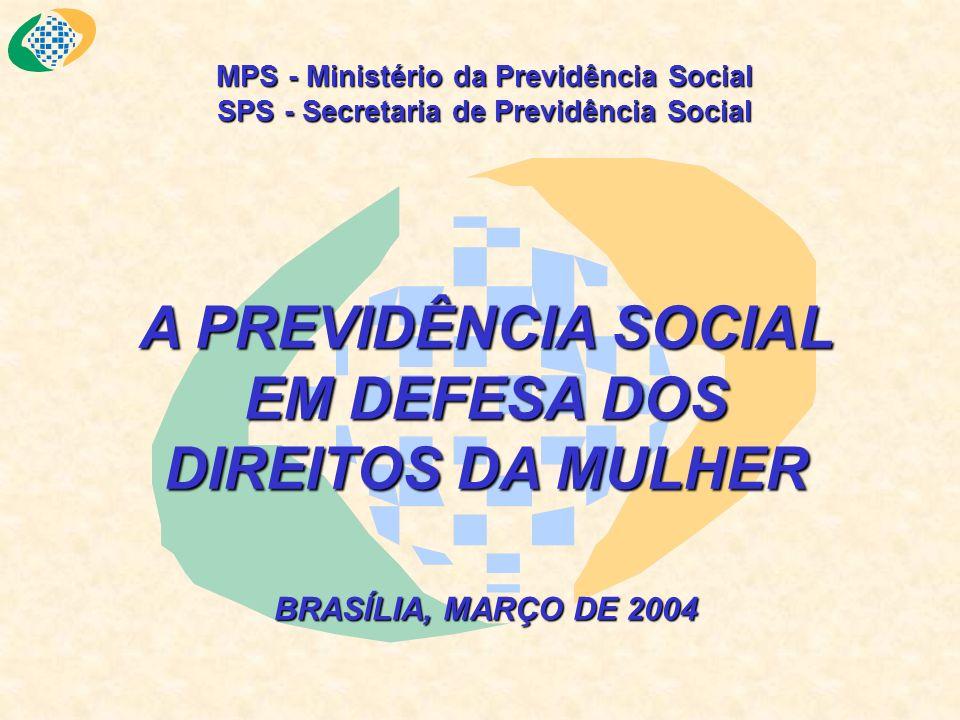 MPS - Ministério da Previdência Social SPS - Secretaria de Previdência Social A PREVIDÊNCIA SOCIAL EM DEFESA DOS DIREITOS DA MULHER BRASÍLIA, MARÇO DE