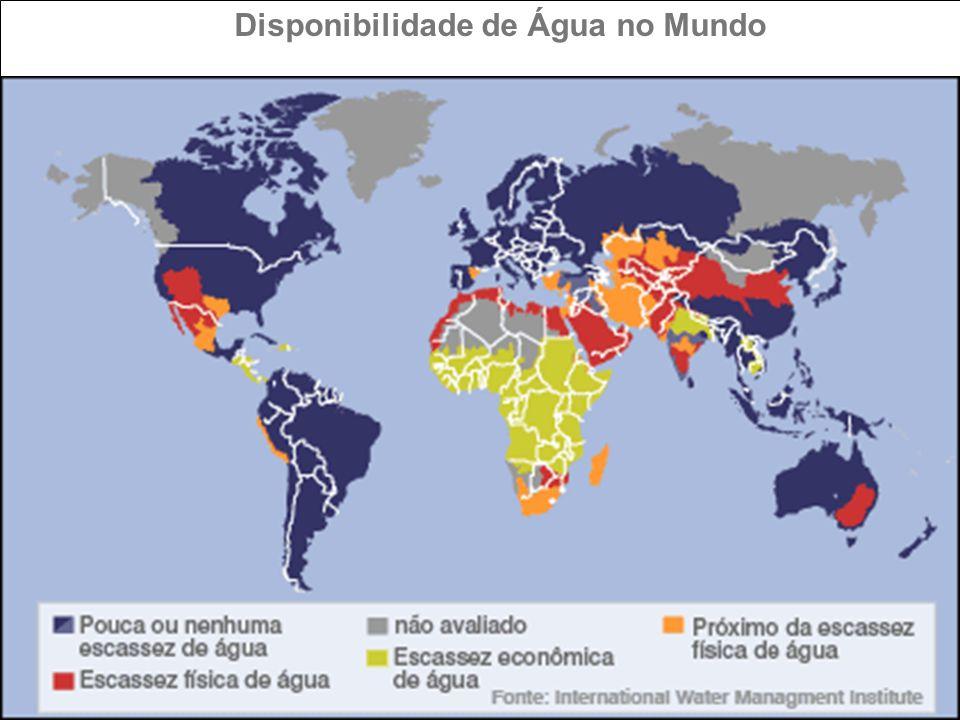 ÁGUA E GEOPOLÍTICA As áreas dos países são proporcionais à média de volume de água doce escoado anualmente em seu território