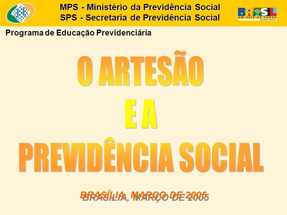 BRASÍLIA, MARÇO DE 2005 BRASÍLIA, MARÇO DE 2005 MPS - Ministério da Previdência Social SPS - Secretaria de Previdência Social Programa de Educação Previdenciária
