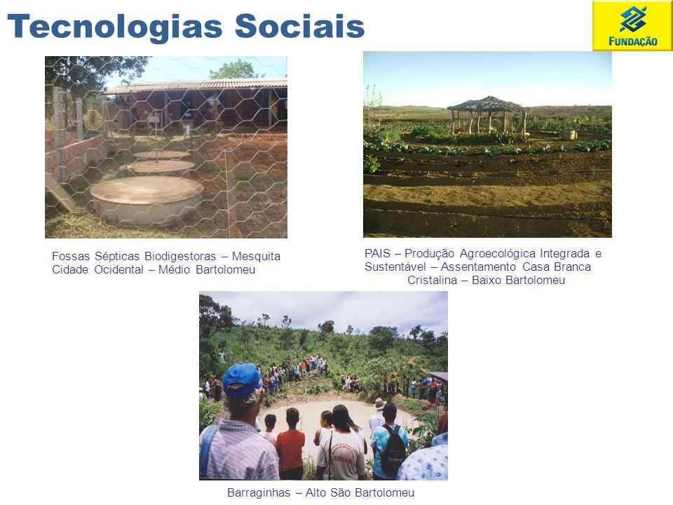 Fossas Sépticas Biodigestoras – Mesquita Cidade Ocidental – Médio Bartolomeu PAIS – Produção Agroecológica Integrada e Sustentável – Assentamento Casa