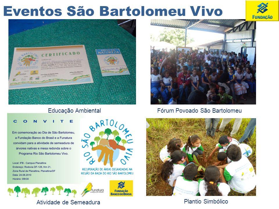 Plantio Simbólico Atividade de Semeadura Fórum Povoado São BartolomeuEducação Ambiental Eventos São Bartolomeu Vivo