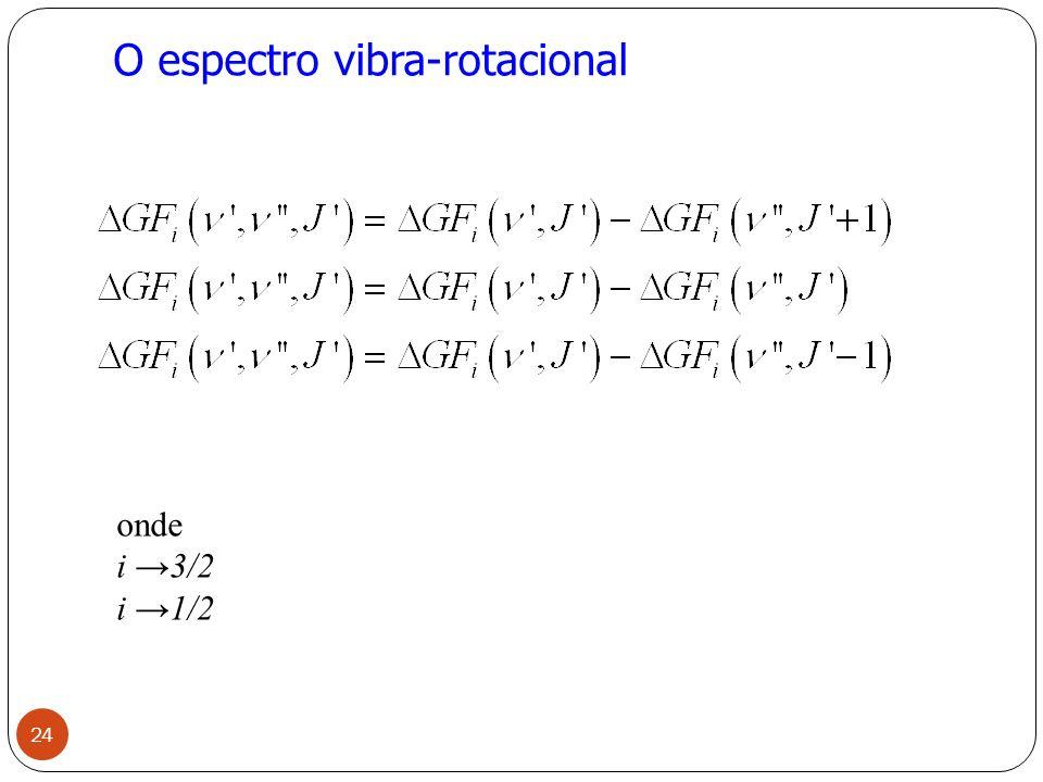 O espectro vibra-rotacional 24 onde i 3/2 i 1/2