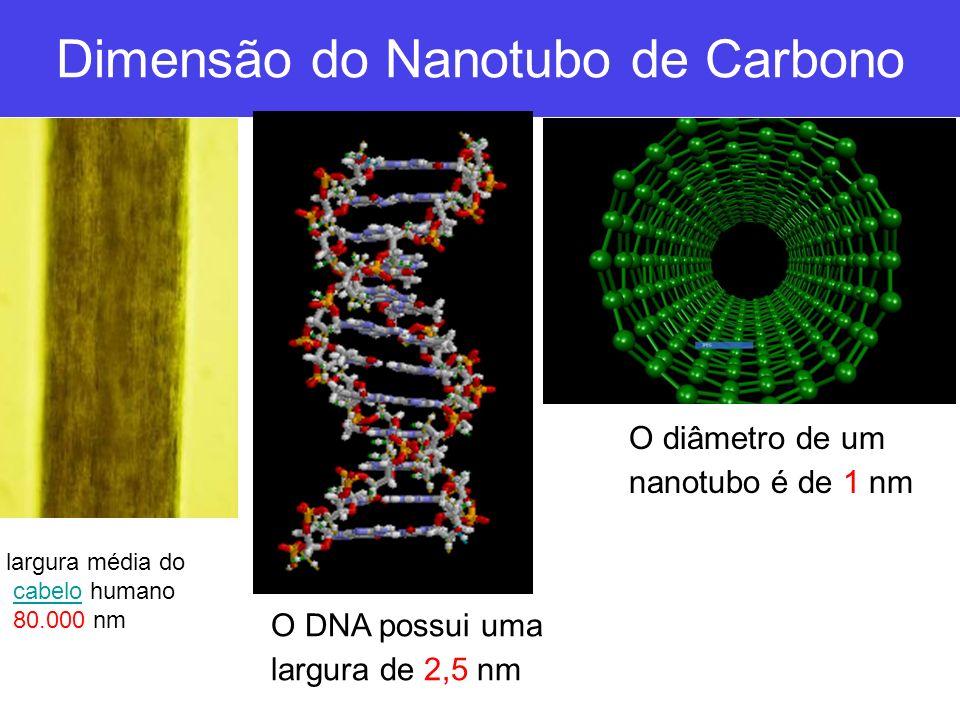 Estrutura do Nanotubo Diâmetro do Tubo Ângulo Quiral ( ) Vetor Quiral (C h )