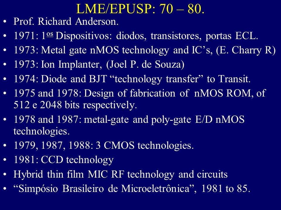 Universidades Laboratórios de Microeletrônica.