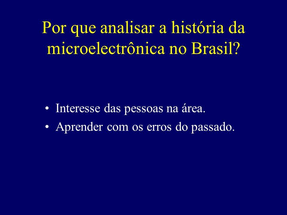 LSI na EPUSP: 1975 – João A.Zuffo LME na UFRGS: 1981 – Joel P.