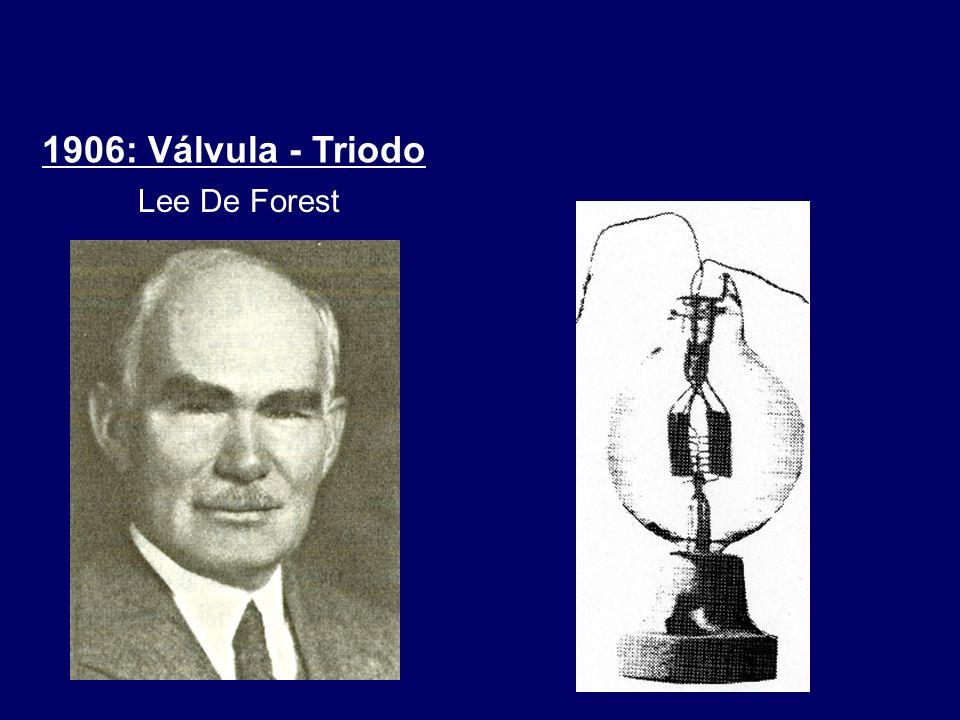 1906: Válvula - Triodo Lee De Forest