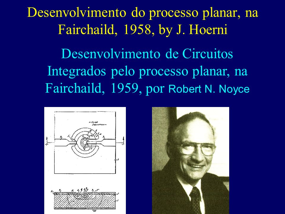 Desenvolvimento do processo planar, na Fairchaild, 1958, by J.