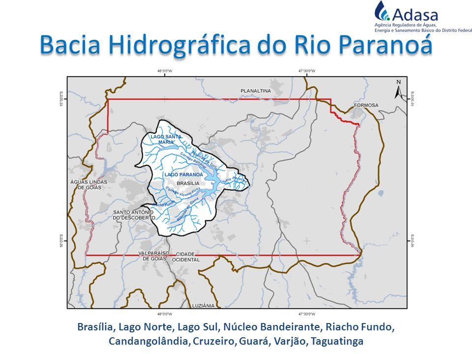 Brasília, Lago Norte, Lago Sul, Núcleo Bandeirante, Riacho Fundo, Candangolândia, Cruzeiro, Guará, Varjão, Taguatinga