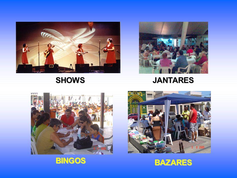 BINGOS BAZARES SHOWS JANTARES